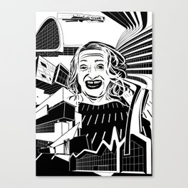 ZAHA HADID Tribute Canvas Print