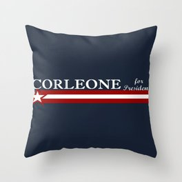Corleone for President Throw Pillow