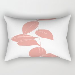 One line plant drawing - Berry Pink Rectangular Pillow