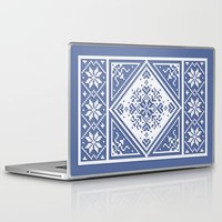 scandinavian Laptop & iPad Skins featuring Scandinavian Patterns I by Fischer Fine Arts