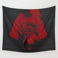darth Wall Tapestries featuring Darth screen by Tony Vazquez