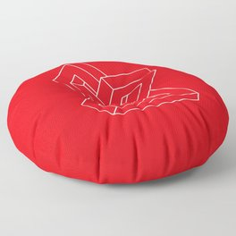 Optical illusion - Impossible figure Floor Pillow