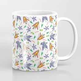 Columbine on White Coffee Mug