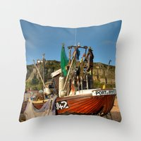 catcher in the rye Throw Pillows featuring Port Of Rye by Best Light Images