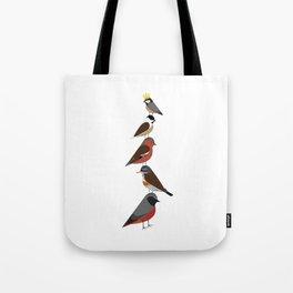 Bird Tower Tote Bag