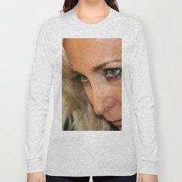 Blond Woman Strict Long Sleeve T-shirt