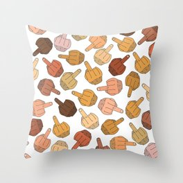 Middle Fingers Pattern 2 Throw Pillow