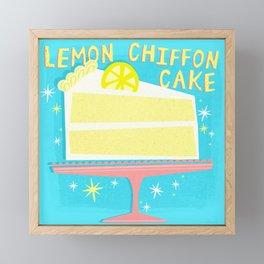 All American Classic Lemon Chiffon Cake Framed Mini Art Print