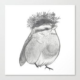 Bird with Bed Head Canvas Print