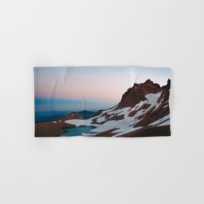 Alpine Lake Moonrise Hand & Bath Towel