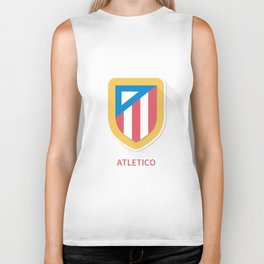 Atletico Madrid Smooth Logo Biker Tank