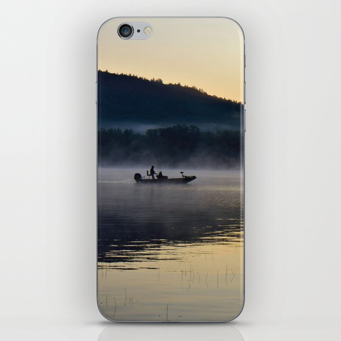 Fishing in the Morning Mist iPhone Skin