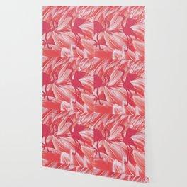 Pink dance of Flamingoes Wallpaper