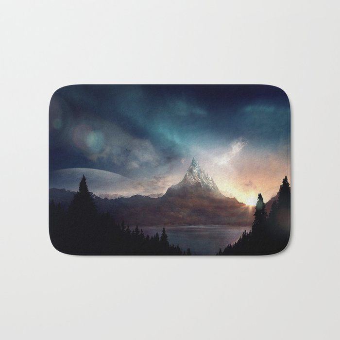 fantasy mountain Bath Mat