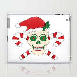 Creepy Christmas Santa Skull Laptop & iPad Skin