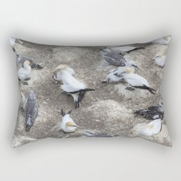Gannet Colony Rectangular Pillow