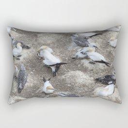 Gannet Colony Rectangular Pillow