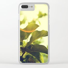 Morning Light Shining Through Branches Of Leaves Nature Photography Clear iPhone Case