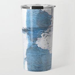 Blue hand-drawn watercolor Travel Mug