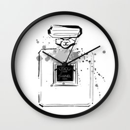 Black Perfume Wall Clock