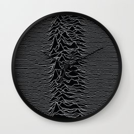 Unknown Radio Waves - Unknown Pleasures Wall Clock