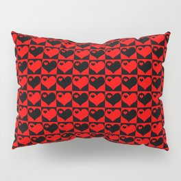 Hearts Love Collage Pillow Sham