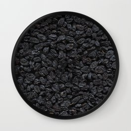 Dried grapes. Background. Wall Clock
