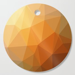 Shades Of Orange Triangle Abstract Cutting Board