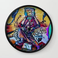 history Wall Clocks featuring History by Roberto Pagani