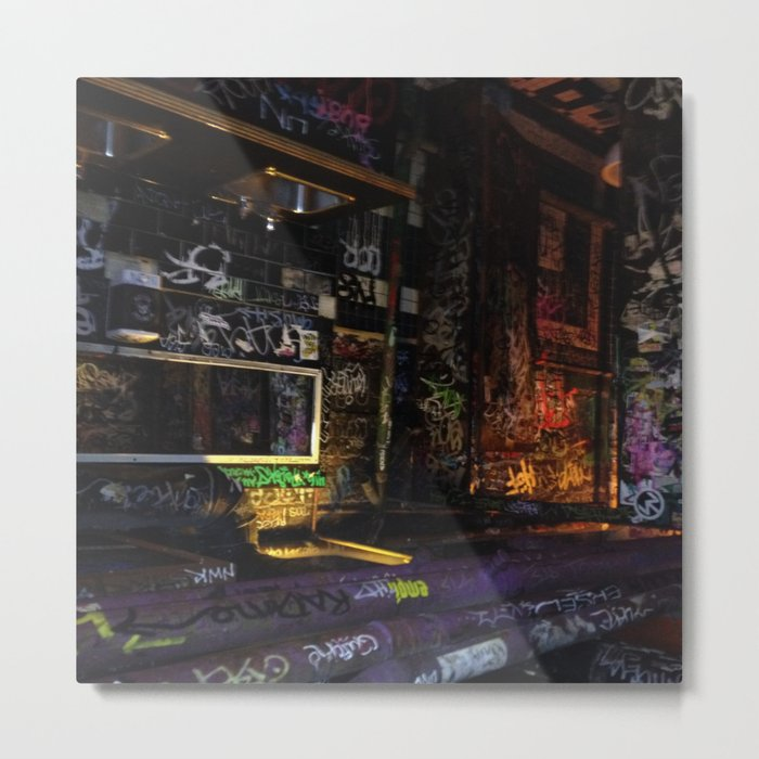 colors and lights and dark mood  Metal Print