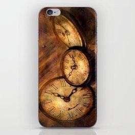 Die Zeit vergeht im Flug iPhone Skin