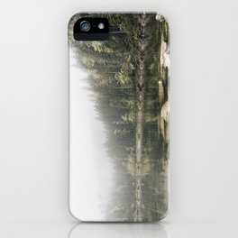 Pale lake - landscape photography iPhone Case