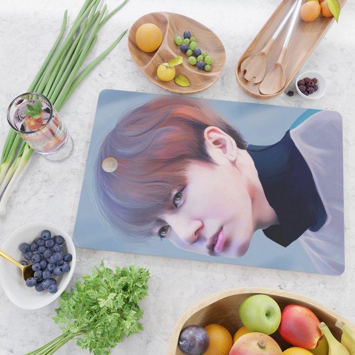 JUNGKOOK BTS Cutting Board by lizavanrees