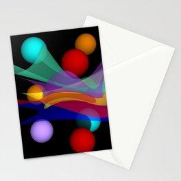 waves on black -01- Stationery Cards