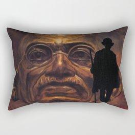 Gandhi - the walk Rectangular Pillow