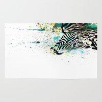 zebra Area & Throw Rugs featuring Zebra by Del Vecchio Art by Aureo Del Vecchio