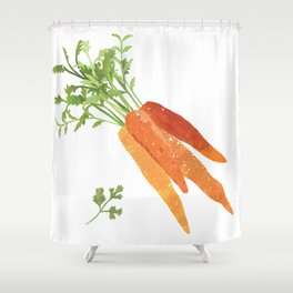 Carrot Illustration Shower Curtain