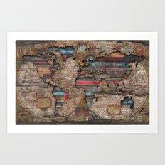 Distress World Art Print