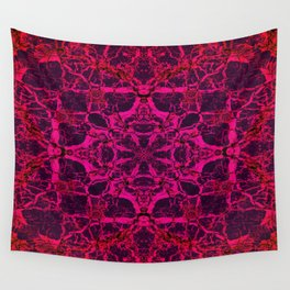 Red kaleidoscope pattern Wall Tapestry