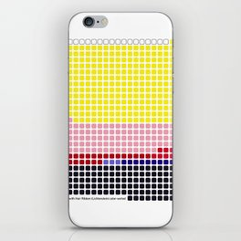 Girl with Hair Ribbon (Roy Lichtenstein) color-sorted iPhone Skin