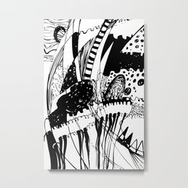 Town Underwater Metal Print