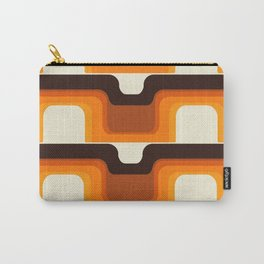 Mid-Century Modern Meets 1970s Orange Carry-All Pouch