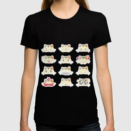 Sticker Cat T-shirt