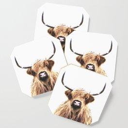 Highland Cow Portrait Coaster