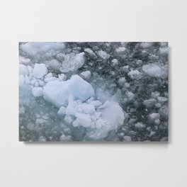 Ice And Snow Abstract Art By Nature Metal Print