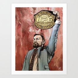 """""""Conor McGregor, (I)"""" Art Print"""