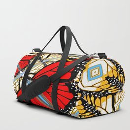 CONTEMPORARY RED BUTTERFLIES  ABSTRACT COLLAGE Duffle Bag