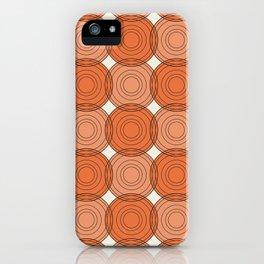 Red & Orange Circles iPhone Case