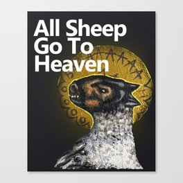 All Sheep Go To Heaven Canvas Print