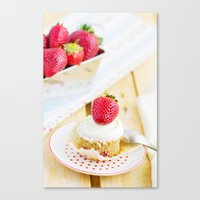 dessert Canvas Prints featuring DESSERT by Ylenia Pizzetti